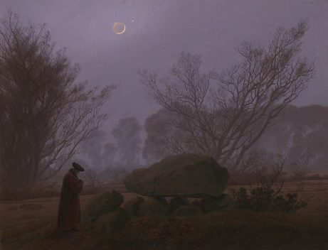"""A Walk At Dusk"" Caspar David Friedrich, c. 1830-35. Digital image courtesy of the Getty's Open Content Program."